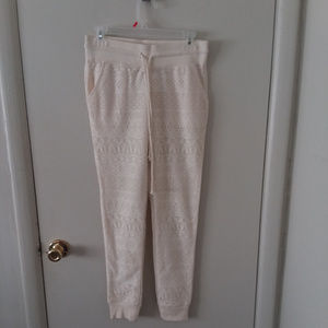 💖 Mossimo Off-White Lace Jogger Pants